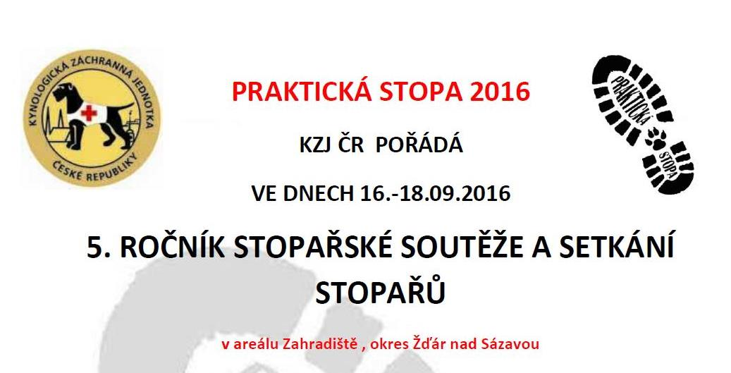 Praktická stopa 2016 @ Radostín nad Oslavou | Kraj Vysočina | Česká republika